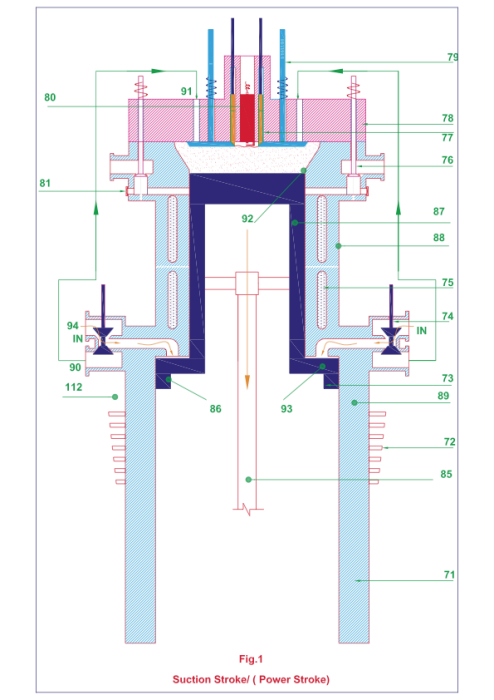 This Proposal Relates To Conceptual Design Of Valved Two Stroke Engine With Extended Expansion In A Four Power Occurs Once