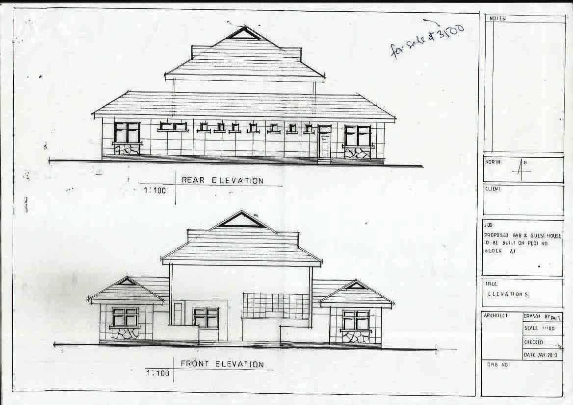 House Plan For Bar And Guest House