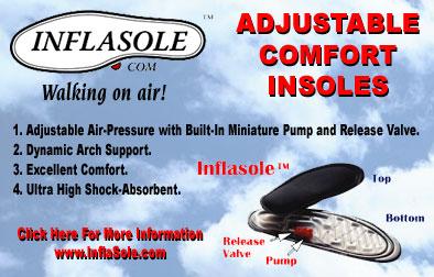 Adjustable Comfort Insoles Inflasole