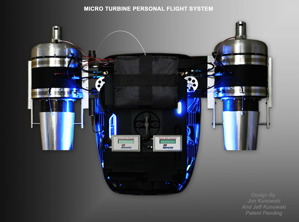 Micro Turbine Personal Flight System For First Responders
