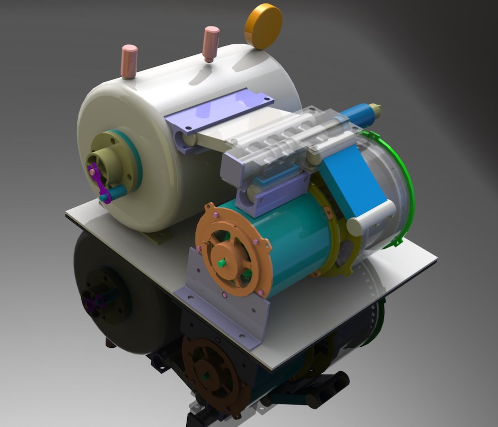 High Performance Continuous Internal Combustion Engine Create The External Diagram